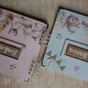 handmade scrapbooking albumy narodziny album - miętowa