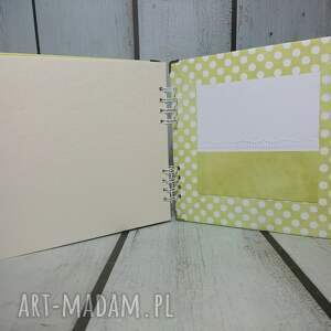 brązowe scrapbooking albumy narodziny album - misiu/misiulek