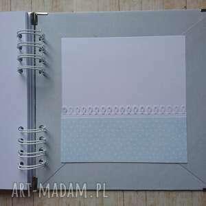 białe scrapbooking albumy komunia album - mój anioł stróż