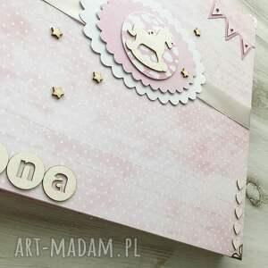 handmade scrapbooking albumy album - różowy z konikiem