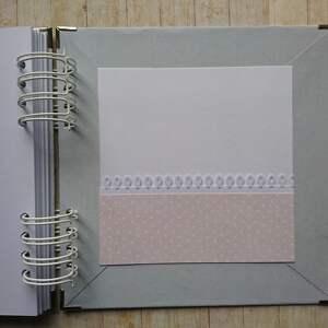 handmade scrapbooking albumy chrzest album - tup-tup w różu