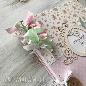 roczek scrapbooking albumy różowe album w pudełku