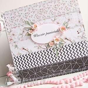 różowe scrapbooking albumy panieński album wieczór