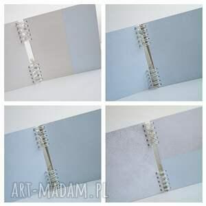 białe scrapbooking albumy chrzest album z misiem pudełko