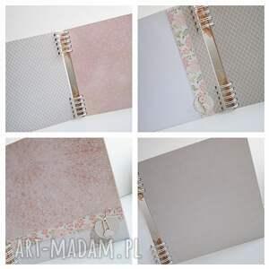 białe scrapbooking albumy chrzest album z sarenką/25x25cm