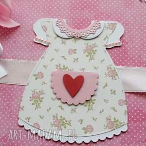różowe scrapbooking albumy prezent album z sukienką