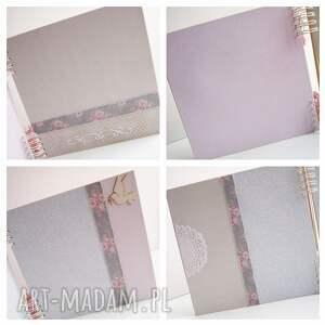 różowe scrapbooking albumy album ze skrzydłami/25x25cm