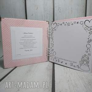 urodziny scrapbooking albumy różowe album ze zdjęciem małej