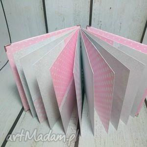 narodziny scrapbooking albumy różowe album ze zwierzakiem