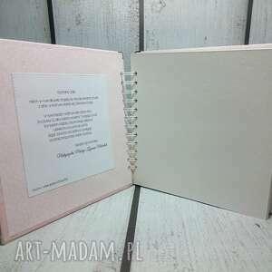 narodziny scrapbooking albumy różowe albumik z głową w chmurach