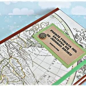 brązowe scrapbooking albumy 2018 kalendarz - podróż tysiąca mil