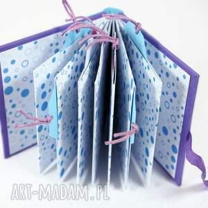 turkusowe scrapbooking albumy zdjęcia mini album