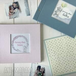 chrzes święty scrapbooking albumy pastelowy album dla dziecka 21x21