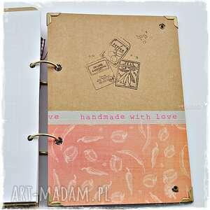 scrapbooking albumy przepiśnik wykonany od podstaw ręcznie metodą