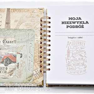 brązowe scrapbooking albumy planner planer podróży, pamiętnik