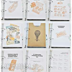 scrapbooking albumy podróżnik planer podróży, pamiętnik