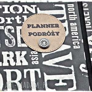 planer scrapbooking albumy czarne podróży, personalizowany