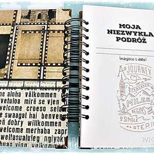 dziennik scrapbooking albumy czarne planer podróży/dziennik podróży