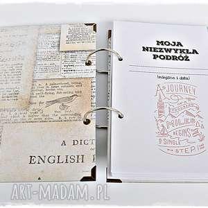 efektowne scrapbooking albumy planner-podrózy planner podróży - pamiętnik