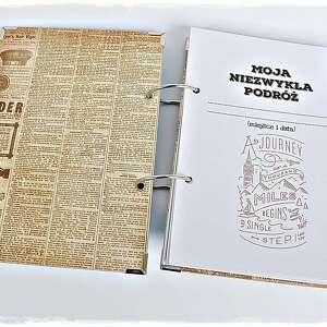 turkusowe scrapbooking albumy podróży planner - pamiętnik
