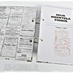 niepowtarzalne scrapbooking albumy planner podróży - pamiętnik