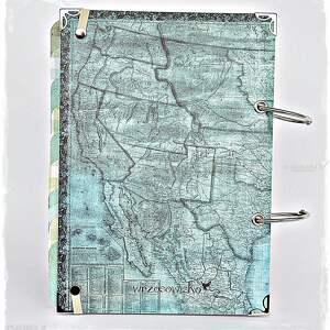 planner scrapbooking albumy niebieskie podróży - pamiętnik