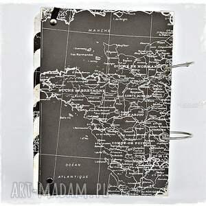 planner scrapbooking albumy czarne podróży - pamiętnik