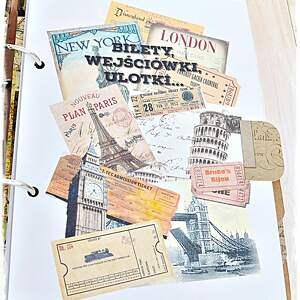 scrapbooking albumy album planner podróży - pamiętnik