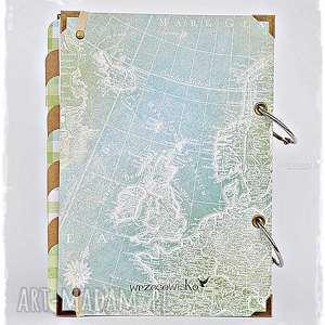 planner-podrózy scrapbooking albumy brązowe planner podróży - pamiętnik