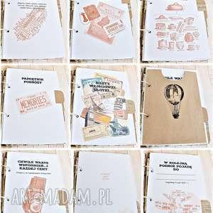 efektowne scrapbooking albumy prezent planner podróży - pamiętnik