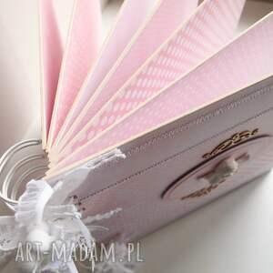 prezent scrapbooking albumy różowy album