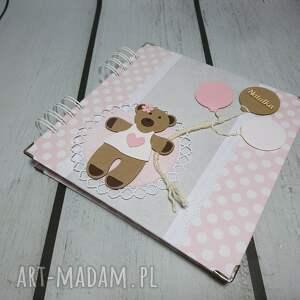scrapbooking albumy prezent słodki misiu