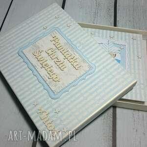 handmade scrapbooking albumy chrzest spersonalizowany zestaw dostosowany