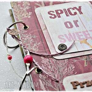 przepiśnik scrapbooking albumy czerwone spicy or sweet? niekończący się