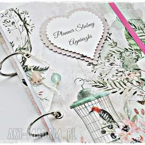 różowe scrapbooking albumy planner unikatowy ślubny