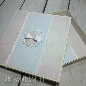scrapbooking albumy prezent zestaw - album w pudełku z kartką