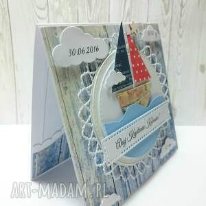 oryginalne scrapbooking kartki zaproszenie ahoj na świecie mały marynarzu!