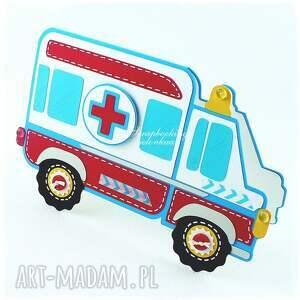 ręcznie zrobione scrapbooking kartki ambulans - kartka