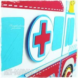 scrapbooking kartki ambulans - kartka
