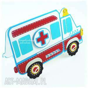 zdrowie scrapbooking kartki ambulans - kartka