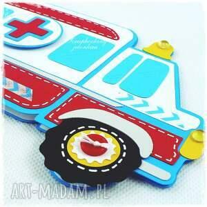 ręcznie zrobione scrapbooking kartki zdrowie ambulans - kartka