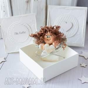 efektowne scrapbooking kartki anioł aniołek stróż z kartką w mini