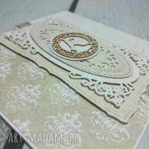 białe scrapbooking kartki ażur ażurowa pamiątka chrztu świętego