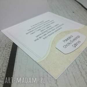 kartka scrapbooking kartki beżowe ażurowa pamiątka chrztu świętego