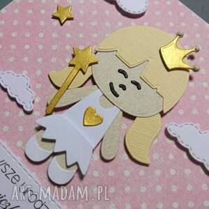 różowe scrapbooking kartki urodziny blond królewna