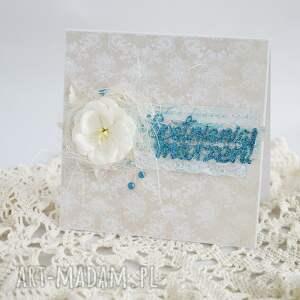 handmade scrapbooking kartki brokatowa prostota