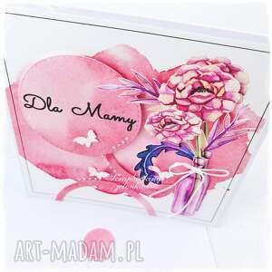 ręcznie wykonane scrapbooking kartki mama bukiet w butelce - kartka dla mamy