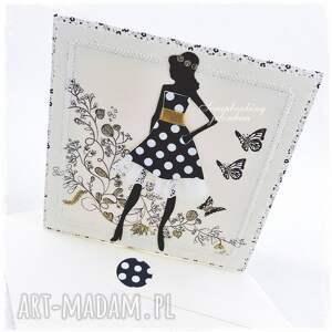 oryginalne scrapbooking kartki kobieta być kobietą - kartka