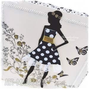 czarne scrapbooking kartki sukienka być kobietą - kartka