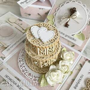 scrapbooking kartki: Pudełko z niespodzianką - na ślub
